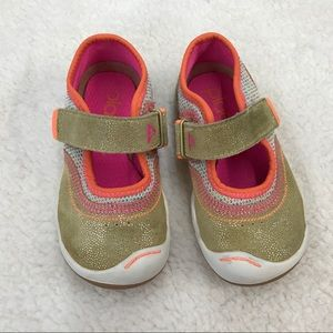 Plae Emme Sneakers 8 in Gold/Pink